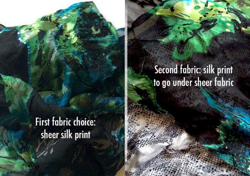 Main fabric & backing fabric