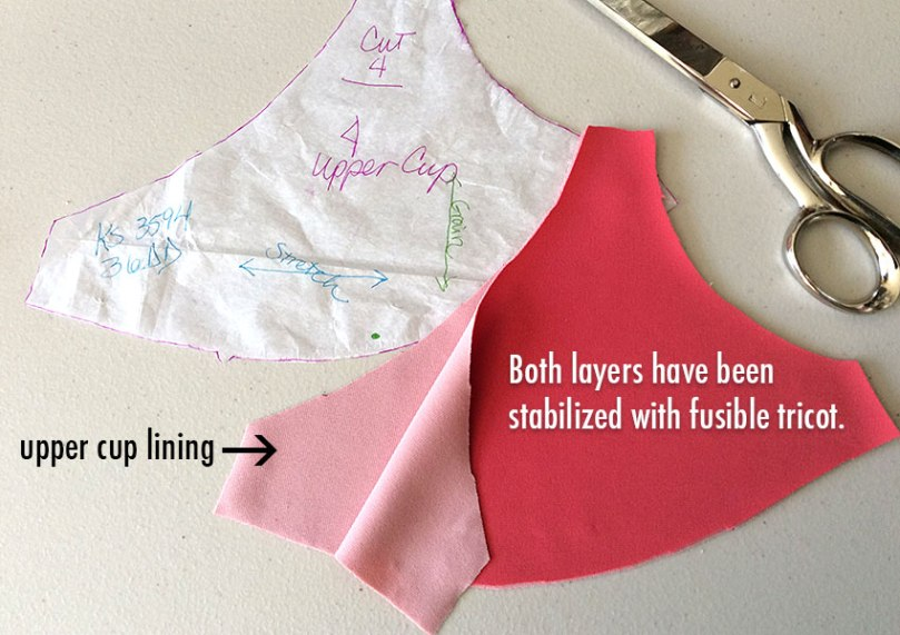 Stabilizing bra cups