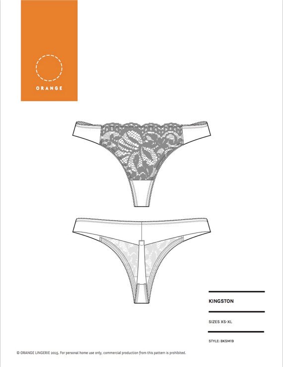 The Kingston Thong pattern
