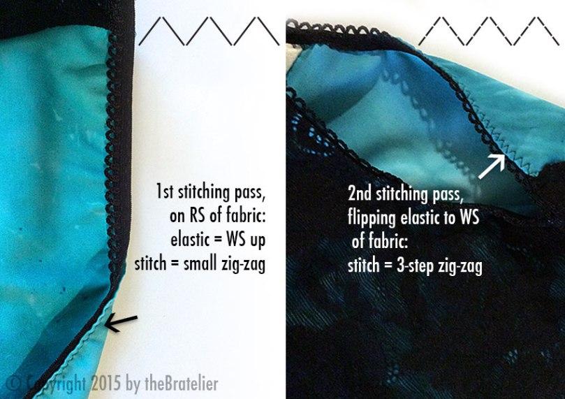 3-step zig-zag stitching
