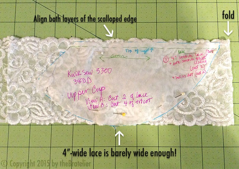 Cutting lace upper cups