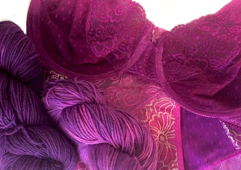 Hand-dyed yarn and lingerie
