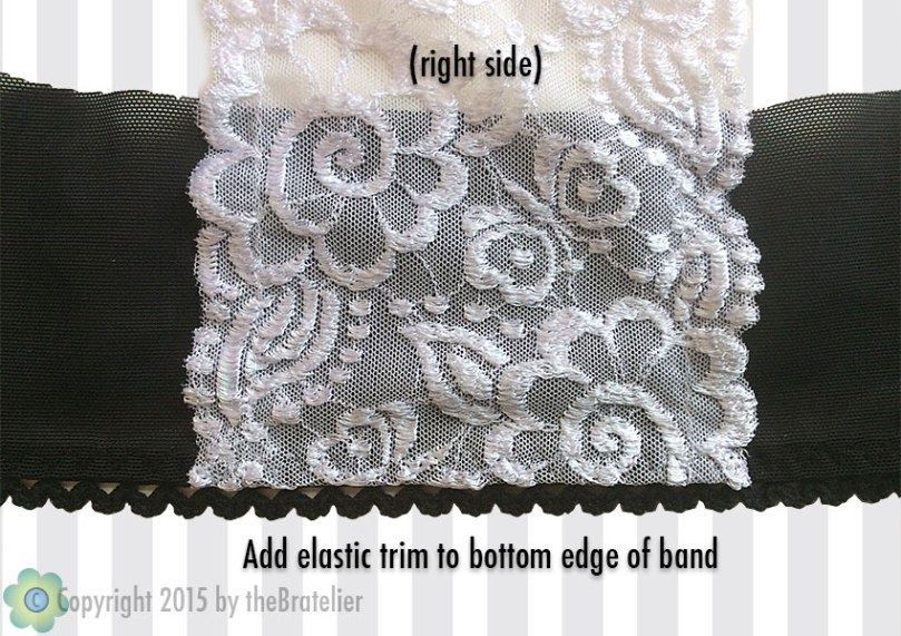 Adding elastic trim to band