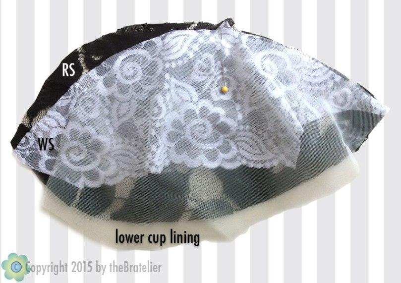 Sewing enclosed cup seams