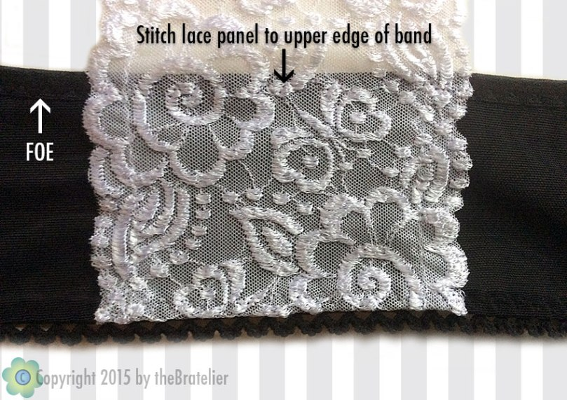 Securing lace panel
